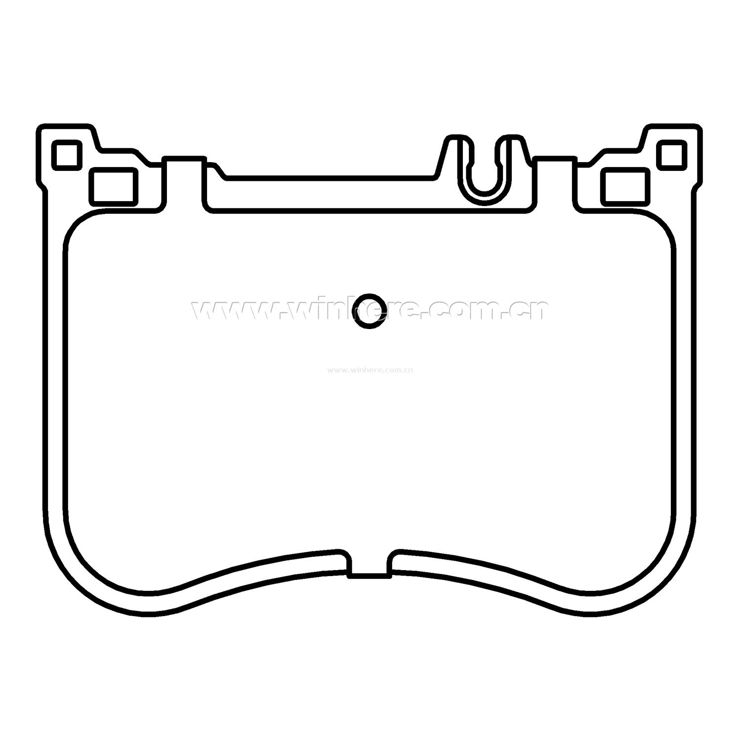 Front Brake Pad for MERCEDES-BENZ ECE R90
