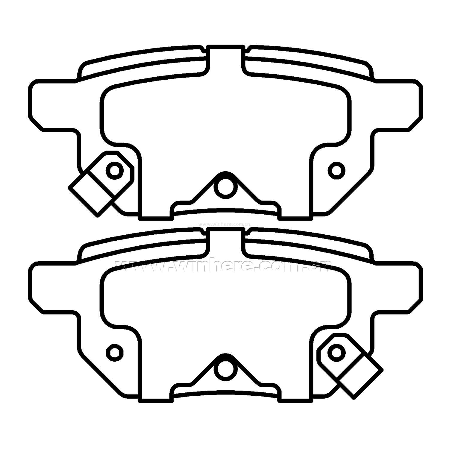 Brake Pad for TOYOTA, PONTIAC SCION Japanese Series Rear ECE R90
