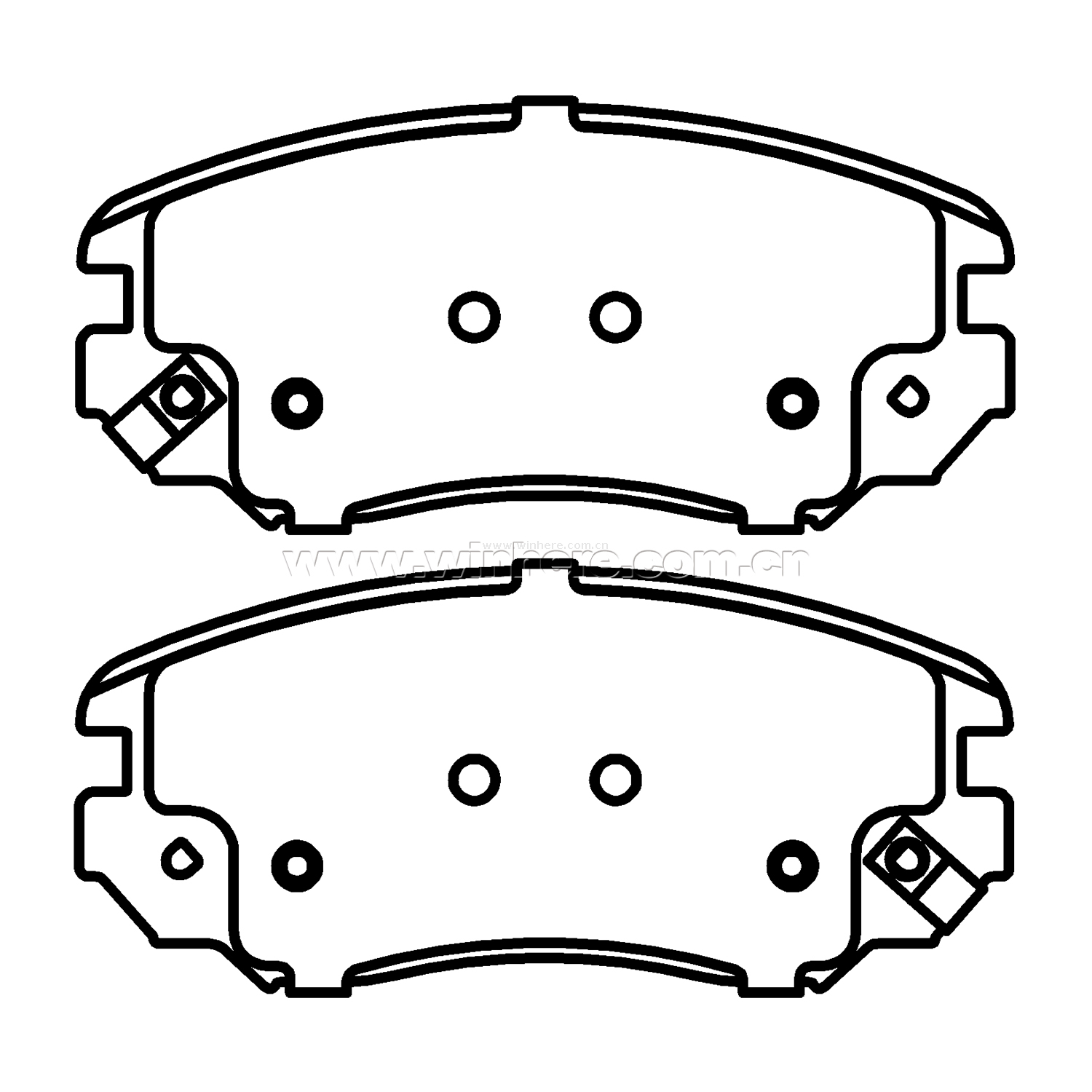Brake Pad for OE#13237750 Front Auto Spare Parts