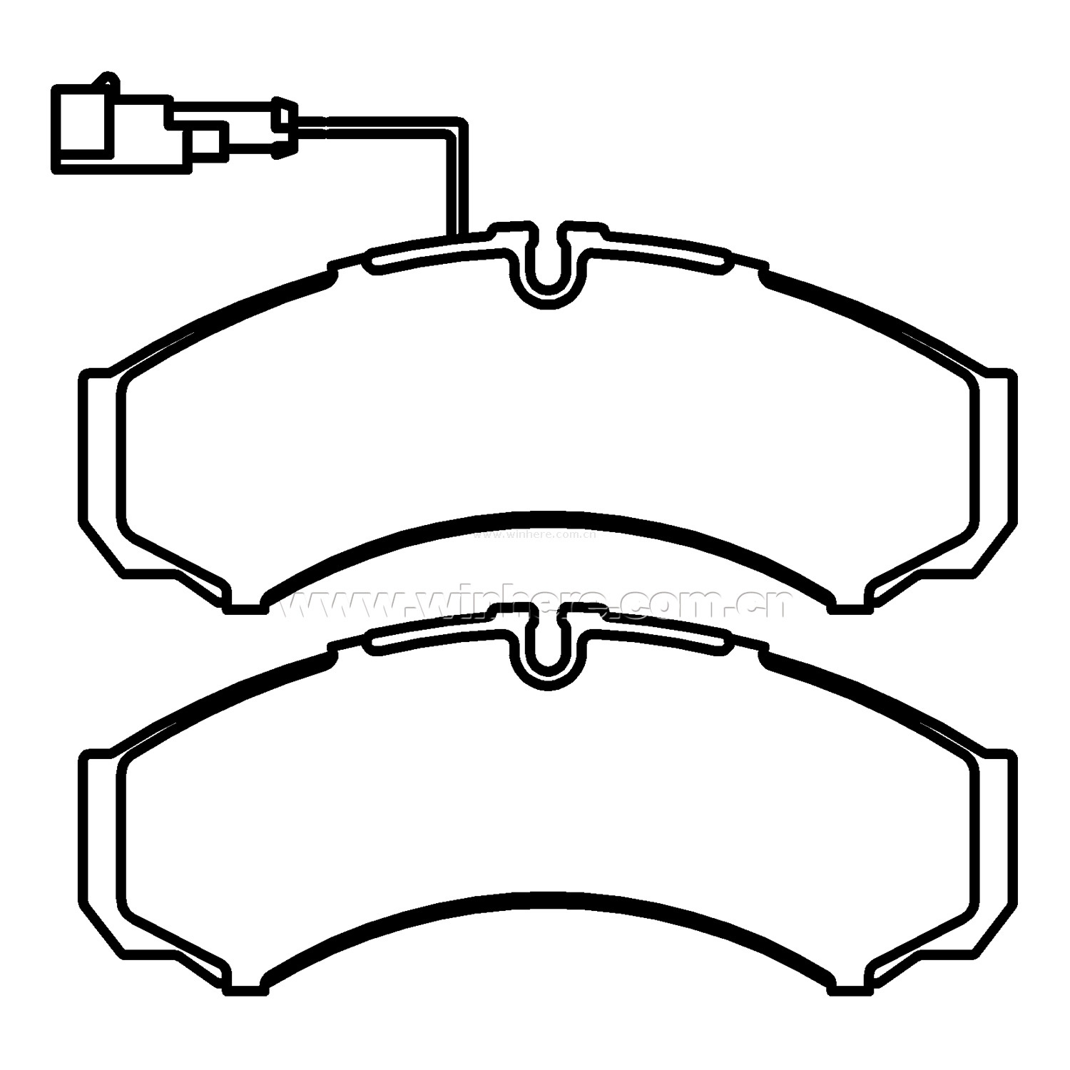 ECE R90 Brake Pad for NISSAN Rear Backing Plate