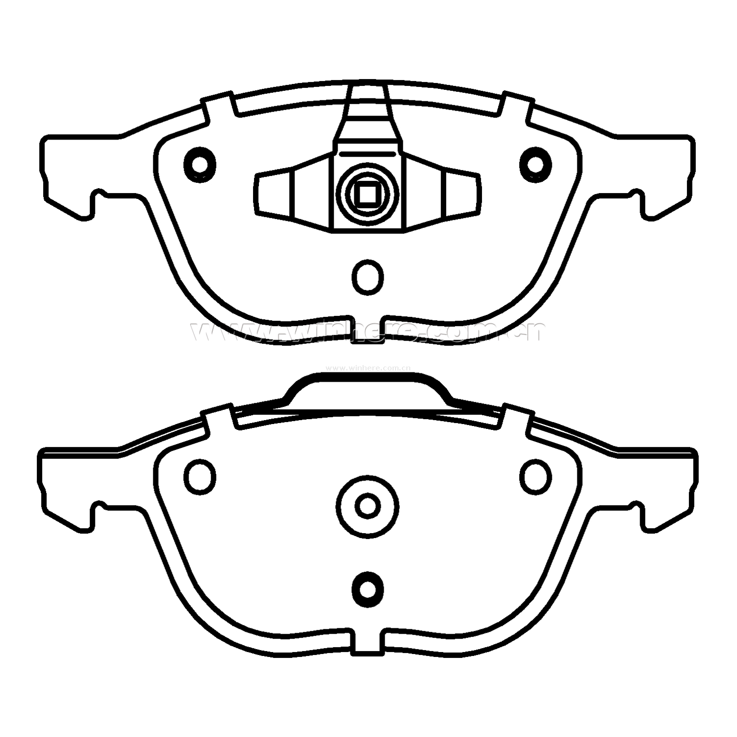 Brake Pad for OE#306 83554 Front Auto Spare Parts